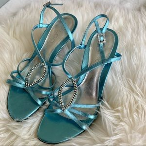 Aldo Light shimery Blue Sandals with Rhinestone 37